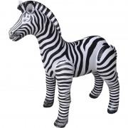 Merkloos Opblaasbare zebra 80 cm decoratie/speelgoed