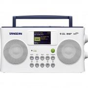 Internet Prijenosni radio Sangean SIR-300 AUX, DAB+, UKW, USB Podržava DLNA, Funkcija punjenja baterije, Spotify Bijela