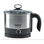 Maharaja Whiteline Easy Cook (EK-104) Electric Kettle(1.2 L, Black & Metal Finish)