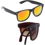 Elgator Wayfarer Sunglasses(Yellow, Brown)