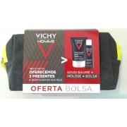 Vichy Homme Coffret Sensi Baume 75 ml+Oferta de Mousse 50 ml e bolsa