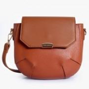 Lino Perros Women Tan Leatherette Sling Bag