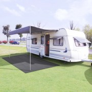 vidaXL Килим за палатка, 250x600 см, антрацит