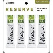D'Addario Reserve Altsax Sampler Pack 2,5/3,0/3,0/3,0+ Blätter