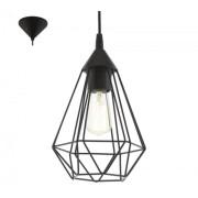 LED lámpa függeszték , mennyezeti , E27 , műanyag , fekete , EGLO , TARBES , 94187