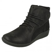 Clarks Women's Sillian Chell Black Boots - 4 UK/India (37 EU)