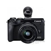 Aparat foto Canon EOS M6 Mark II kit (cu obiectiv 15-45mm IS STM ) + EVF, negru
