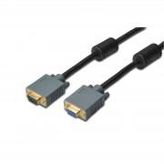 ASSMANN DB-310205-018-D :: Удължителен кабел за монитор, HD15/M - HD15/F, 1.8 м, феритна защита