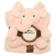 """Silver One Sherpa Plush Stuffed Animal and Throw Blanket 2 Peice Gift Set for Kids/Children 