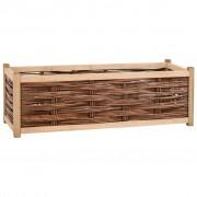 vidaXL Jardinieră de grădină, 120 x 40 x 40 cm, lemn masiv de pin