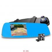 Camera Auto Oglinda Zenteko Premium Full HD SM460 + MicroSD 16Gb, CAR Triple
