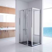 Kassandra Mampara frente de ducha fijo con puerta pivotante - - Serie 300
