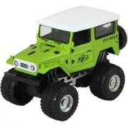 DealBindaas Die Cast Metal 132 Jeep Pull Back Action Dinky Car Toys Children Gift Collection Green