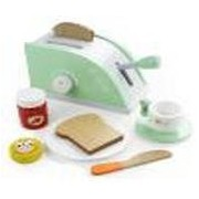 Wood Eats! Pop-Up Toaster Playset with Butter, Jam, and Coffee Cup (10pcs. ) by Imagination Generation