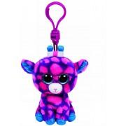 Breloc din plus TY Boos 8.5 cm - Girafa roz, Sky High