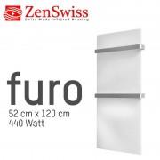 ZenSwiss furo (Farbe: Glanz Weiss, Format: 52 x 120 cm)