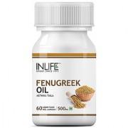 INLIFE Fenugreek Seed Oil Supplements 500mg - 60 Vegetarian Capsules