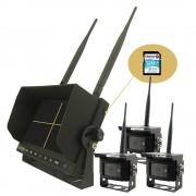 """WiFi couvací set 3 kamery + 7"""" LCD monitor s nahráváním"""
