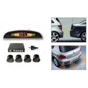 AutoStark Reverse Car Parking Sensor LED Display Black For Tata V2 Turbo