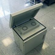 RACK, MIRSAN MR.MOB03.03, Шкаф за CCTV оборудване - 625 х 530 х 480 мм, IP65, двойни стени, 2 вентилатора, бял