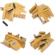 Generic Tech Deck Fingerboard Skate Park Ramp Parts Finger Board Ultimate Parks 92B One Piece