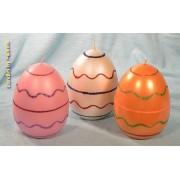 Designkaarsen com Paasei Kaars gedecoreerd (set van 3 stuks) XL - kaarsen
