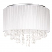 """[lux.pro] Mennyezeti lámpa """"Tiriton"""" 28 x Ø 43 cm fehér műkristály/szövet design lámpa csillár"""
