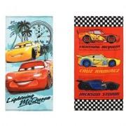 Disney Cars Bilar handduk (BLÅ)