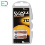 Duracell hallókészülék elem DA312N6