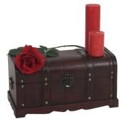 Holztruhe Holzbox Schatztruhe Valence Antikoptik 24x46x23cm ~ Variantenangebot