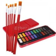 Alcoa Prime Watercolor Painting Supplies Set 24 Color Solid Paints with 6pcs Paint Brush