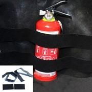 AST Works 2pcs Car Trunk Store Content Bag Rapid Fire Extinguisher Holder Safety Strap Kit