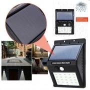 Faro/Faretto/Crepuscolare con sensore di movimento e pannello solare 20 led