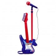 Bontempi Gitaar met versterker en microfoon rood/blauw
