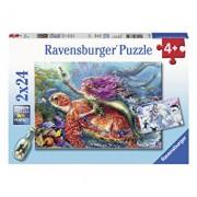 Puzzle Aventura sirenei, 2x24 piese