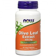 Now Foods Olive Leaf Extract 500mg Veg-capsules 60-Count