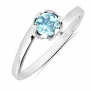 Inel argint Roxelana 925 cu topaz albastru elvetian - IVA0072