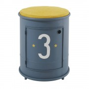 Maisons du Monde Comodino e seduta per bambino in metallo blu Petit Bolide