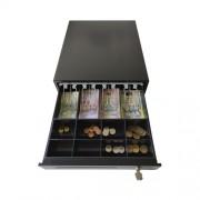 Сейф за пари, касово чекмедже Metter CDE410BK, метален, черен