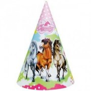 Partyhattar charmerande hästar - 6 st