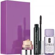 Clinique confezione regalo 7 ml high impact mascara nero + 5 ml all about eyes eye crema + 30 ml struccante