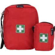 Stikage First Aid Pouch Travel Toiletry Kit(Red, Black)