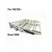 Suport Dual Sim Samsung Galaxy S8 G950F / G955 Albastru Original