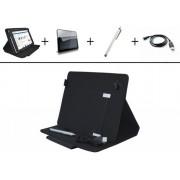 4-in-1 Starter Kit voor Hp 10 Plus , Handige Voordeel Kit (met hoes, screenprotector, stylus en laadkabel), zwart , merk i12Cover