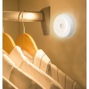 Nalepovacie LED svetlo okrúhle na 3x 1,5V AAA batérie + pohybový senzor