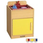 Ecr4 Kids Colorful Essentials Home Indoor Kids Pretend Play Kitchen Sink Set Red