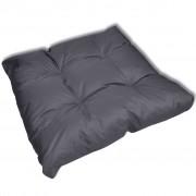 Възглавница за стол 80 х 80 х 10 см, сива тапицерия