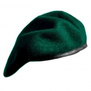 Beret tłoczony wojskowy zielony