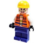 Batman LEGO Batman Loose Joker's Henchman Minifigure #1 [Orange Construction Vest Loose]