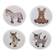 "A&T Designs Set 4 Donkeys 1.25"" Pinback Buttons Pins Donkey Wild Ass Horse"